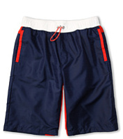 Costume de baie Boys' Logo Swim Shorts w/ Red Trim (Toddler/Little Kids/Big Kids) Baieti