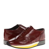 Pantofi Oxfords Brushed Leather Wing Tip Sneaker Barbati