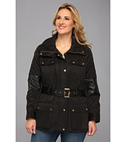 Jachete Plus Size Quilted Jacket w/ Belt Femei