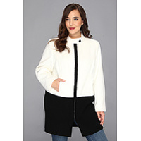 Jachete Plus Size Jacket w/ Sweater Trim Femei