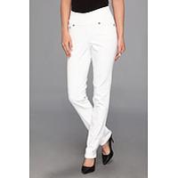 Blugi Malia Pull-On Slim Colored Denim in White Femei